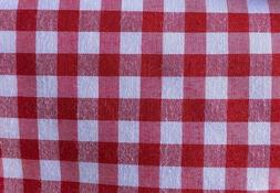"1/4"" RED GINGHAM PRINT POLY COTTON FABRIC CHECKERED 60"" BY T"