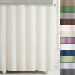 2-in-1 Water Repellant 70 x 72 Polyester Fabric Shower Curta