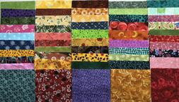 """100 + pcs. of 5"""" X 5"""" Quilting Charm Squares All 100% Co"""
