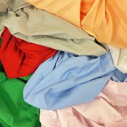 """100% Cotton Broadcloth Fabric 59"""" Wide Solid Colors Apparel"""