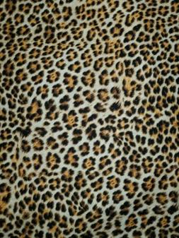 100% cotton cheetah print black and brown  fabric sold by th