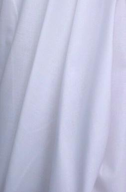 """100% Cotton Fabric 59"""" Width Sold By The Yard -WHITE-"""