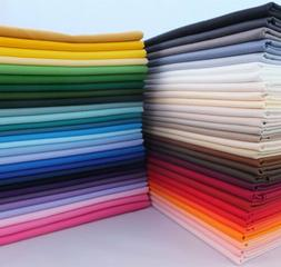 """100% Cotton Fabric Solid Color 43"""" Width Quilting Sewing Tab"""