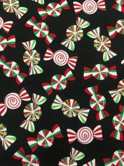 100% Cotton Peppermint Candy Fabric By Benartex