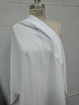 100% Cotton Crepe White Fabric By the Yard light weigh cotto