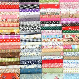 100Pcs Mixed Pattern Cotton Fabric Sewing Quilting Patchwork