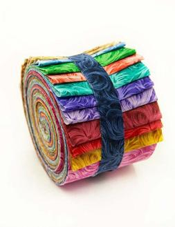 2.5 inch FEATHERS  Jelly Roll 100% cotton fabric quilting st