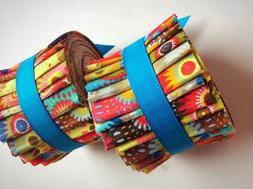 2.5 inch Fizzy Pop Jelly Roll 100% cotton fabric quilting st