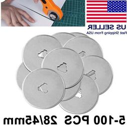 28mm & 45mm Rotary Cutter Spare Blades Leather Quilters Sewi