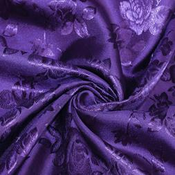 34 Colors Kayla Floral Jacquard Brocade Satin Fabric by the