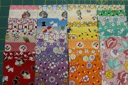 """TRIBUTE TO AUNT GRACE 1930's JELLY ROLL 2.5"""" x 44"""" STRIPS Q"""
