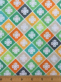 4 h cotton fabric bty colorful print