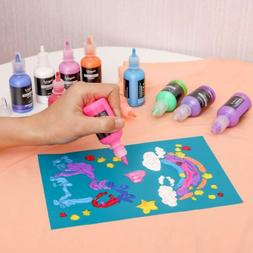 40 Colors Puffy Paints 3D Fabric Paint for Clothing T-Shirt