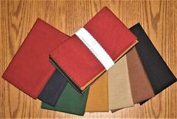 """Dunroven House 7 Solid Colors Homespun Fabric 10"""" Square Bun"""