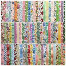 75 1930's Reproduction Repro  Cotton Quilt Fabric Jelly Roll
