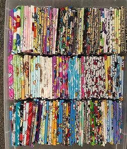 8 cotton fat quarters disney cartoon nickelodeon