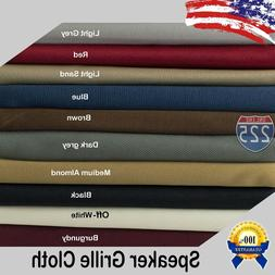 """All Colors Stereo Speaker Grill Cloth Fabric 36"""" x 66"""" 16.5"""