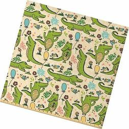 Lunarable Alligator Fabric by The Yard, Happy Party with Dan