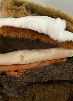 """Assorted Faux Fur Fabric Pieces /10""""x10"""" Square"""