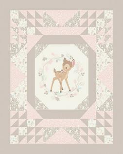 Bambi Disney Cheater Design Quilt Top Panel Fabric Springs 1
