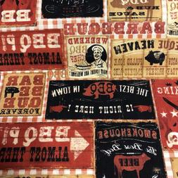 Robert Kaufman BBQ 100% cotton fabric by the yard  BBQ PIG S