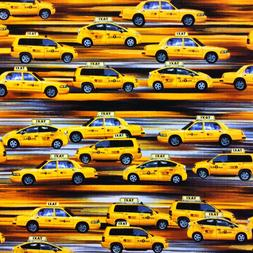 BE18 Yellow Taxi Cab New York City Rush Hour Transportation