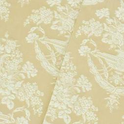 Beige/White Floral Jacquard Home Decorating Fabric, Fabric B