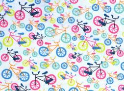 BIKE BICYCLE  FIELD DAY PEDAL POWER COTTON FABRIC TIMELESS T