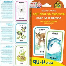 Bilingual Animals All Kinds Flash Cards Kids Toddlers Learni
