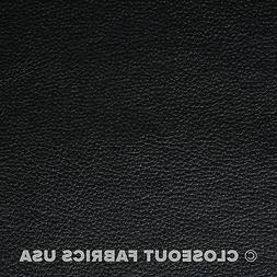 Black Vinyl Leather Upholstery Fabric - 54 inches Wide