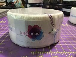 Boundless Solid White 100% Cotton Jelly Roll