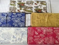 BTY Toile type 100% Cotton fabric by Jodi Barrows for Sulliv