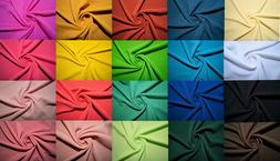 Bullet Double Knit Stretch Fabric 89 Colors Polyester Lycra