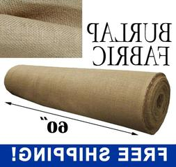 """Burlap Fabric Natural - 60"""" Wide - Sold By The Yard - Free S"""