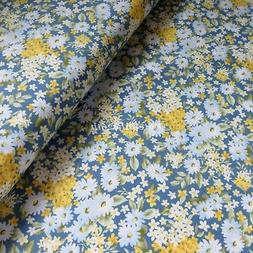 By The Yard Cotton Quilting, Sewing Fabric, Daisy Floral Flo