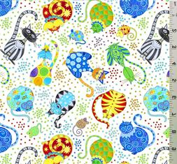 Catmosphere Stephanie Marrot Cotton Quilting Fabric Wilmingt