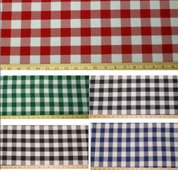 """Checkered Fabric 60"""" Wide Gingham Buffalo Check Tablecloth F"""