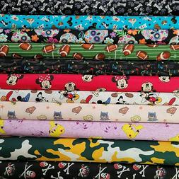 Novelty Cotton Fabric by the 1/2 Yard - PICK PRINT - Disney