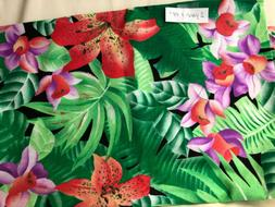 Cotton Fabric 2 Yards x 44 Bright Tropical Pattern for Craft