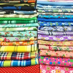 Cotton Fabric Polyester Floral Prints Pre- Cut Sewing Quilti