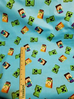 Cotton MINECRAFT Fabric by-the-half-yard