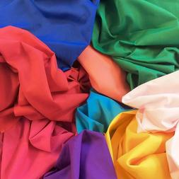 """Cotton Polyester Broadcloth Fabric Apparel 45"""" Inch Solid Pe"""