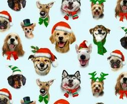 Cotton Quilting Fabric, Christmas Dog Selfies Elizabeth's St