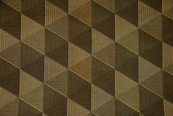 Discount Fabric JACQUARD Gold & Black Diamond Drapery Fabric
