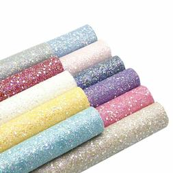 Diy Fabric Sheets Garments Glitter Artificial Leather Fabric