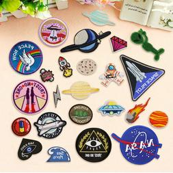 DIY Outer Space  Embroidery Sew On Iron On Patch Badge Bag F