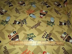 DUCK DYNASTY FABRIC - A&E NETWORK  - SOLD BY THE YARD