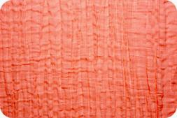 Shannon Fabrics Embrace Double Gauze - Coral Solid - by the