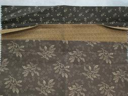 """Fabric Spectrix """"Cabin Cloth"""" quilter's calico sampler tan/b"""