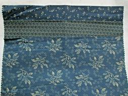 """Fabric Spectrix """"Cabin Cloth"""" quilter's calico sampler blue"""